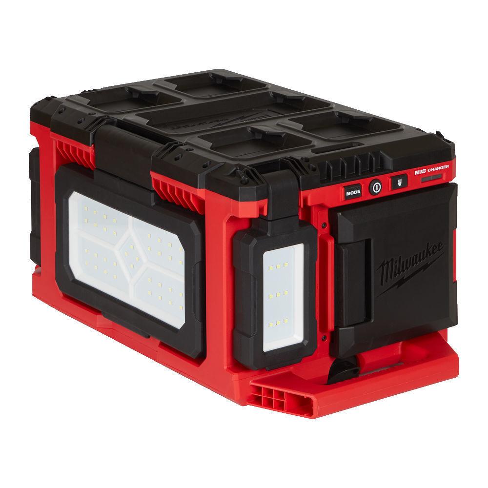 Aku lampa LED 18V 3000 lm, otočné hlavy, s nabíječkou - Milwaukee M18 POALC-0 Packout