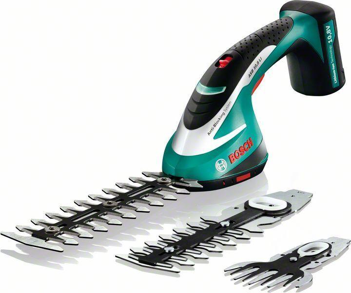AKU nůžky na trávu a keře Bosch ASB 10,8 LI, sada 3 v 1 - 0600856301