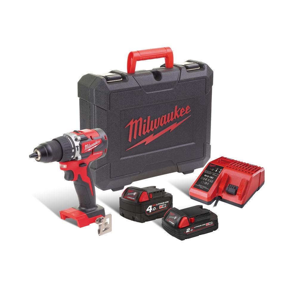 Aku příklepová vrtačka - šroubovák bezuhlíkový 18V, 4,0 Li-Ion - Milwaukee M18 CBLPD-422C