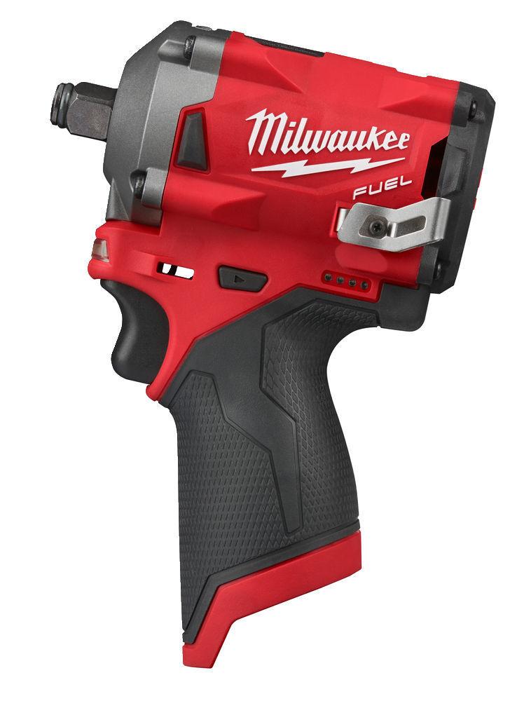 """Aku rázový utahovák 1/2"""" 339 Nm, bezuhlíkový - Milwaukee M12 FIWF12-0 FUEL"""