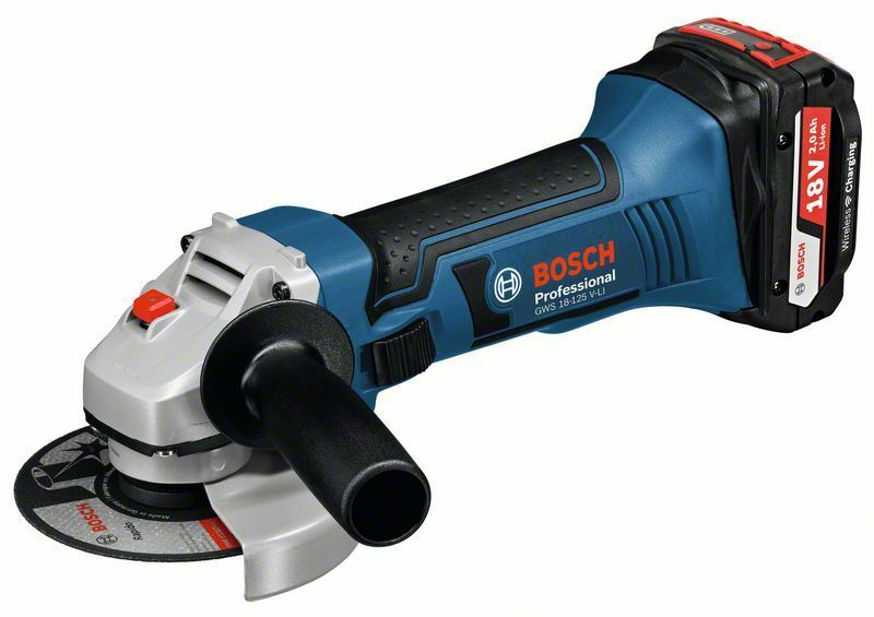 Aku úhlová bruska Bosch GWS 18-125 V-LI Professional, 2x5,0Ah, L-Boxx - 060193A30l