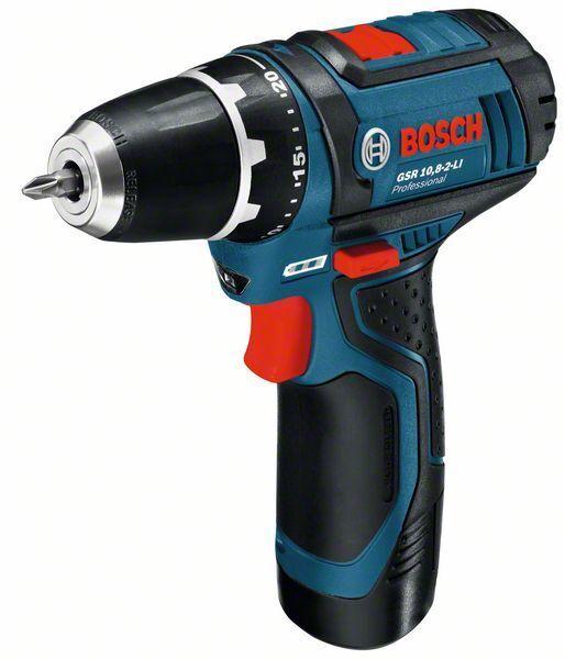 Aku vrtací šroubovák Bosch GSR 12-15 Professional, 2x AKU 2,0Ah - 0601868122