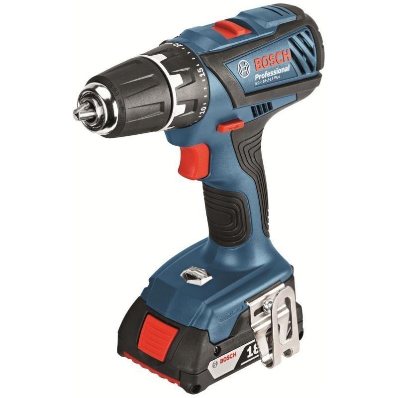Aku vrtací šroubovák Bosch GSR 18-2-LI Plus Professional, 2x aku 2,0Ah - 06019E6120