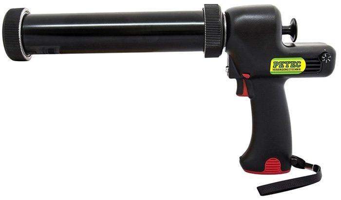 Aku vytlačovací pistole na kartuše a sáčky, objem 310 ml, s příslušenstvím - Petec