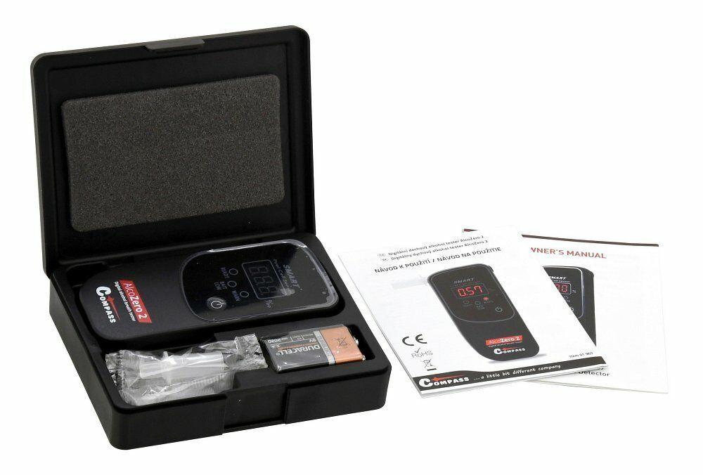 Alkohol tester AlcoZero2, elektrochemický senzor, v kufříku - COMPASS