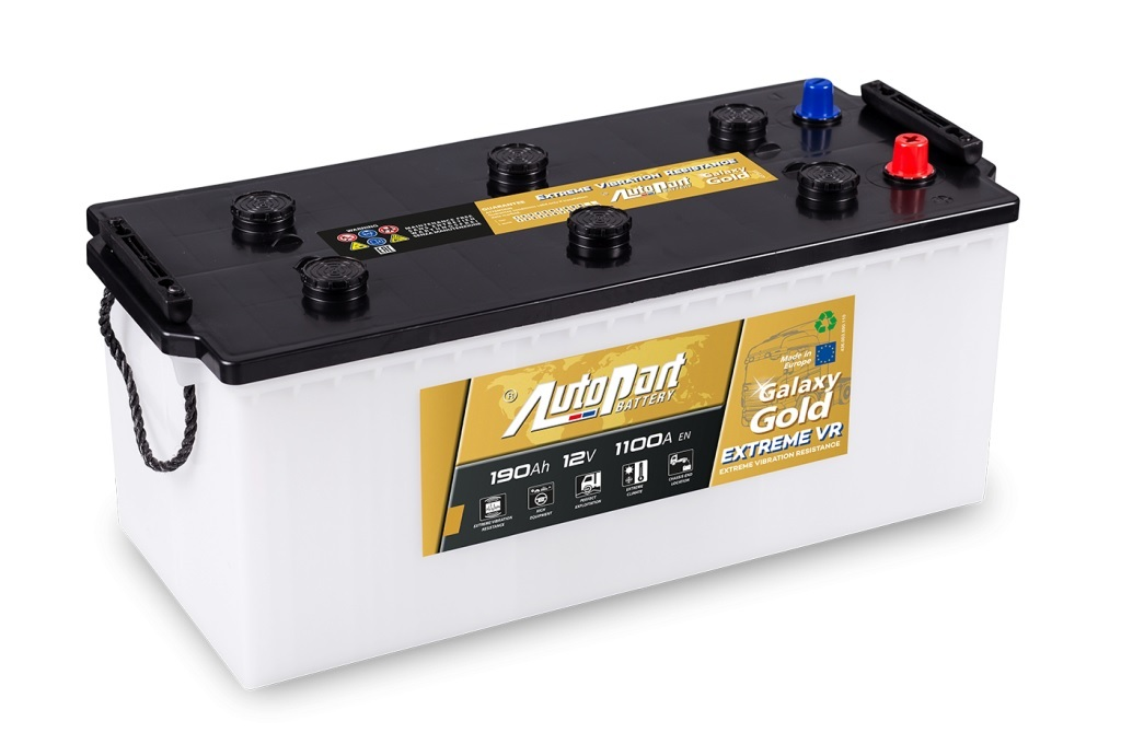 Autobaterie Galaxy Gold EVR 190 Ah 12V, 513x223x218 mm