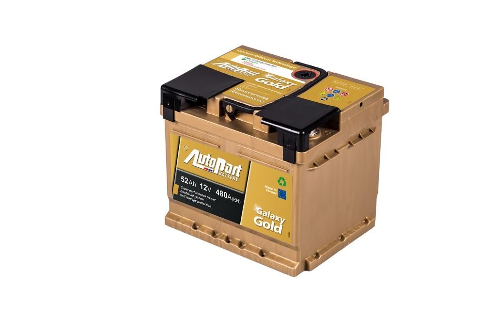 Autobaterie Galaxy Gold 52 Ah 12V, 207x175x190 mm