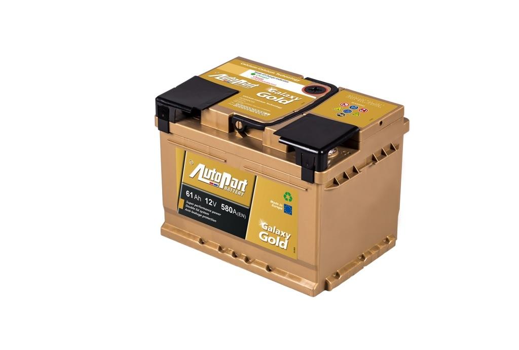 Autobaterie Galaxy Gold 61 Ah 12V, 242x175x175 mm