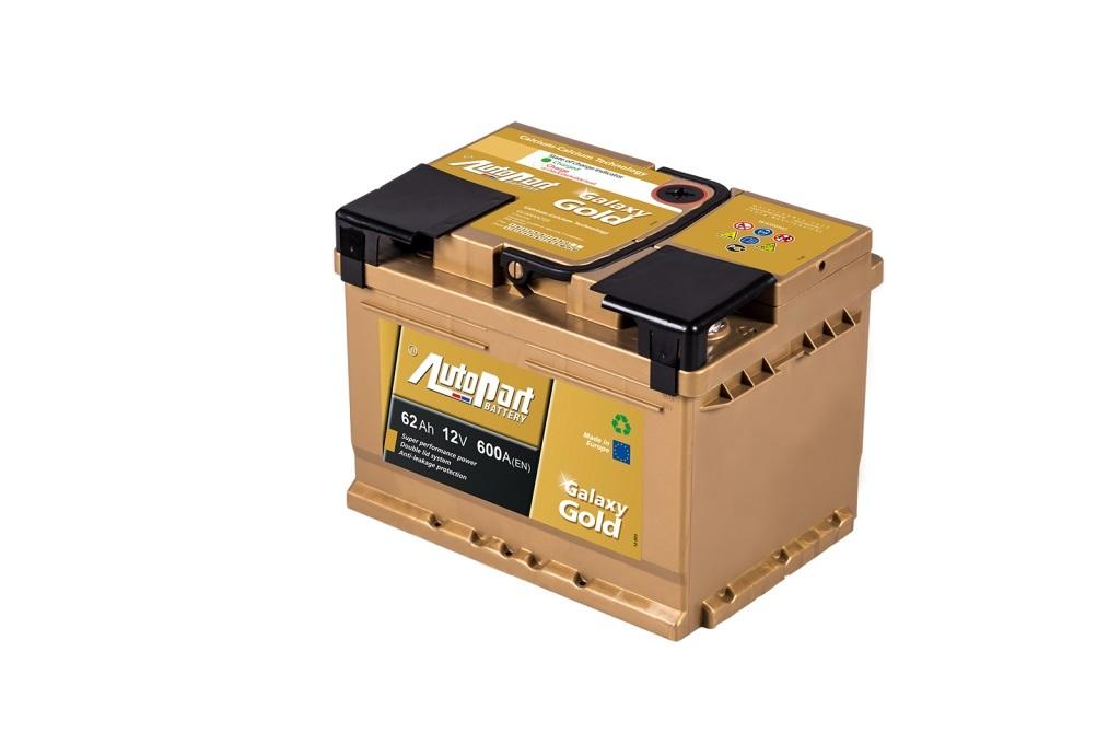 Autobaterie Galaxy Gold 62 Ah 12V, 242x175x190 mm