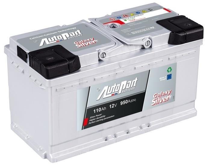 Autobaterie Galaxy Silver 110 Ah 12V, 353x175x190 mm