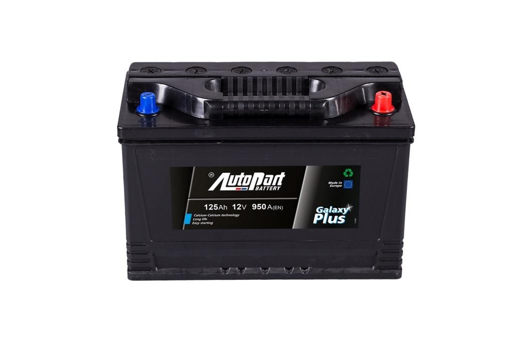 Autobaterie Galaxy Plus Agro 125 Ah 12V, 350x175x230 mm