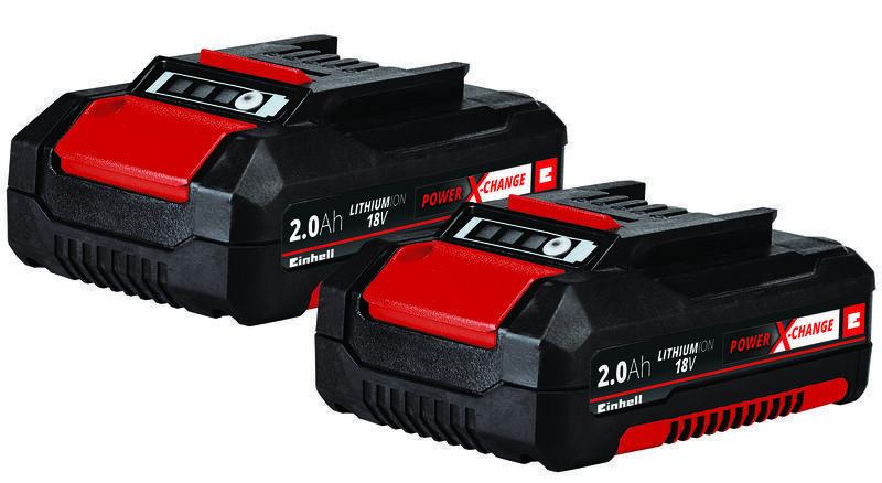 Baterie 18V 2,0 Ah Power X-Change-Twinpack, Li-Ion, sada 2 ks - Einhell Accessory