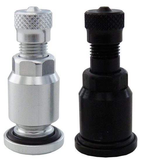 Bezdušové ventily V2.04.1, pro osobní auta, stříbrné nebo černé - Ferdus