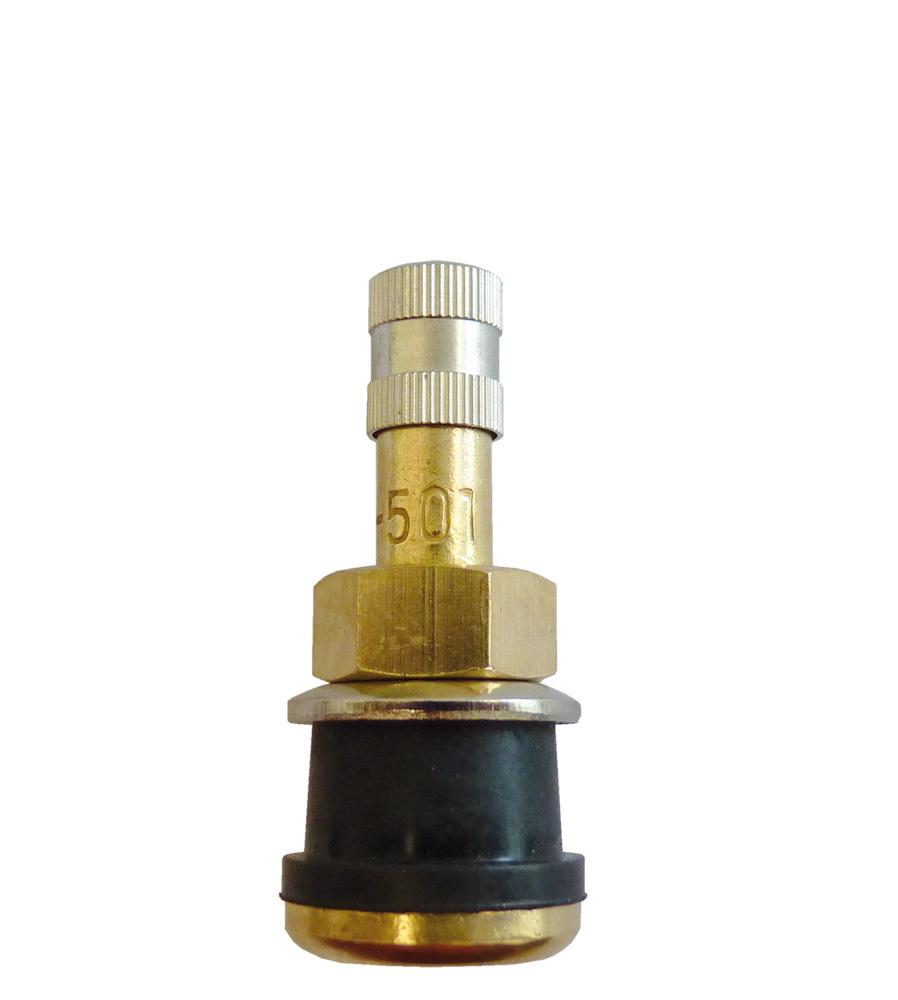 Bezdušový ventil TR 501 (V-527), délka 38 mm, otvor v disku 16 mm, TRUCK - 1 kus
