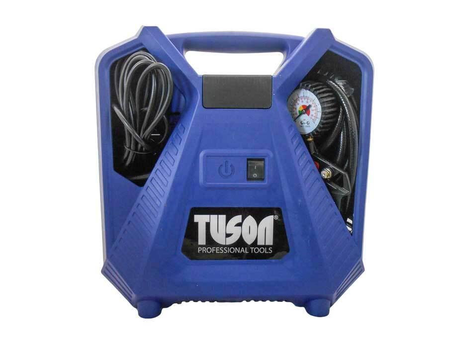 Bezolejový vzduchový kompresor 1,1 kW, přenosný, s příslušenstvím - TUSON 130045