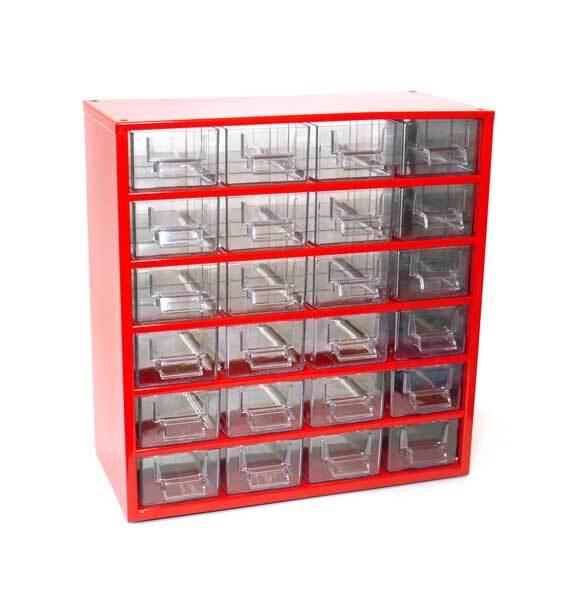 Box na nářadí 78xx – 24xD, červená barva - Mars 7802C