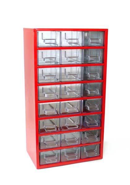 Box na nářadí 78xx – 24xE, červená barva - Mars 7812C