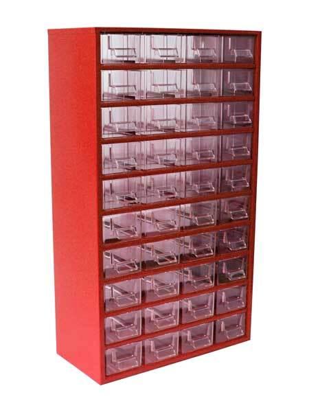 Box na nářadí 78xx – 40xD, červená barva - Mars 7805C