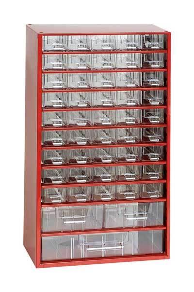 Box na nářadí MAXI – 45xA, 2xB, 1xC, červená barva - Mars 6744C