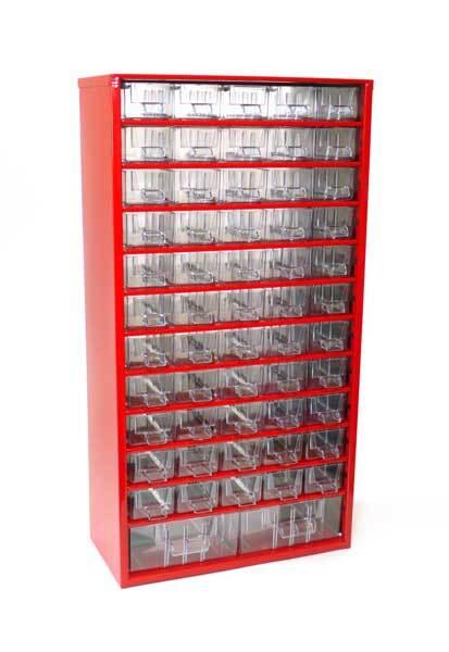 Box na nářadí MAXI - 55xA, 2xB, červená barva - MARS 6749C