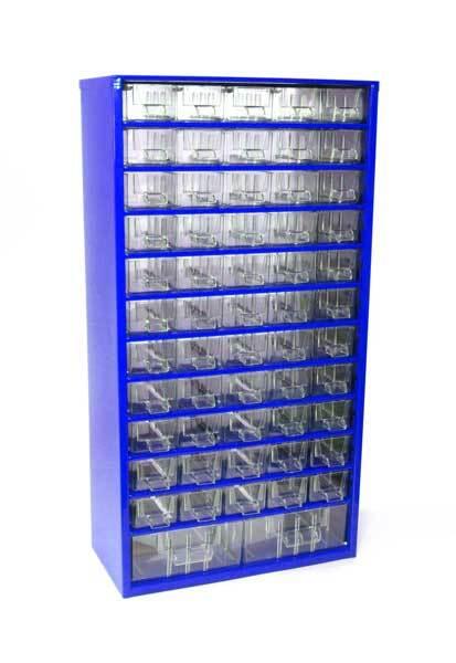 Box na nářadí MAXI - 55xA, 2xB, modrá barva - MARS 6749M