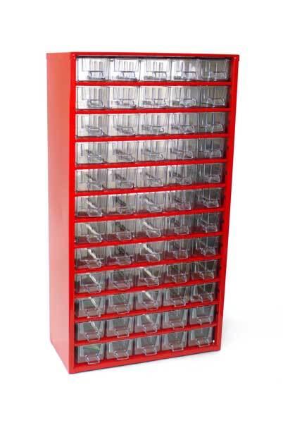 Box na nářadí MAXI – 60xA, červená barva - Mars 6750C
