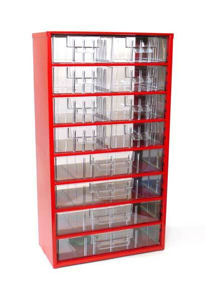 Box na nářadí MAXI – 8xB, 4xC, červená barva - Mars 6754C