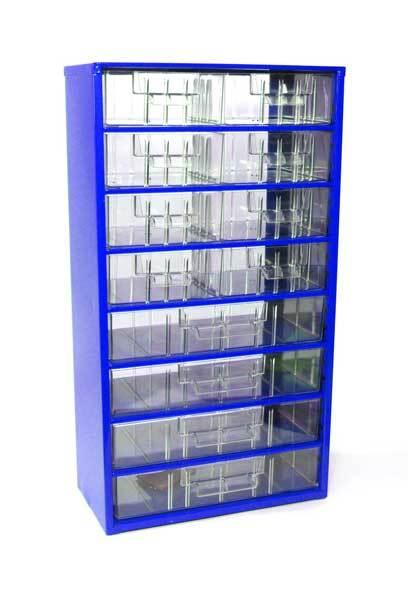 Box na nářadí MAXI – 8xB, 4xC, modrá barva - Mars 6754M