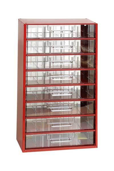 Box na nářadí MAXI – 8xC, červená barva - Mars 6753C