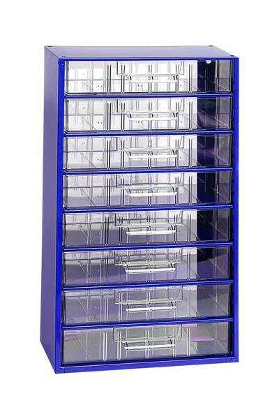 Box na nářadí MAXI – 8xC, modrá barva - Mars 6753M