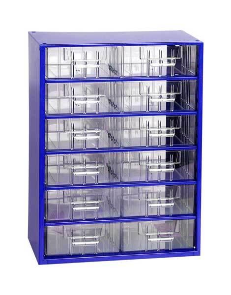 Box na nářadí MEDIUM – 12xB, modrá barva - Mars 6706M