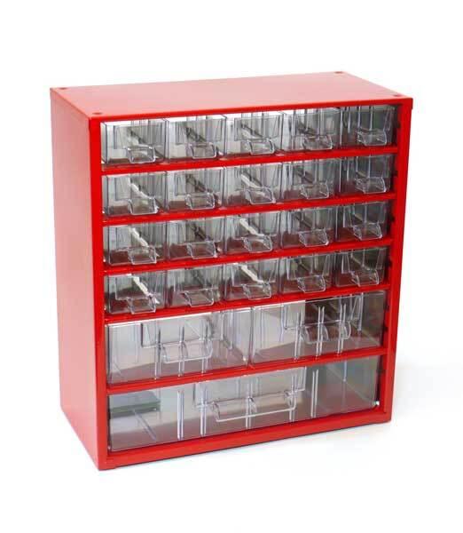 Box na nářadí MEDIUM – 20xA, 2xB, 1xC, červená barva - Mars 6731C