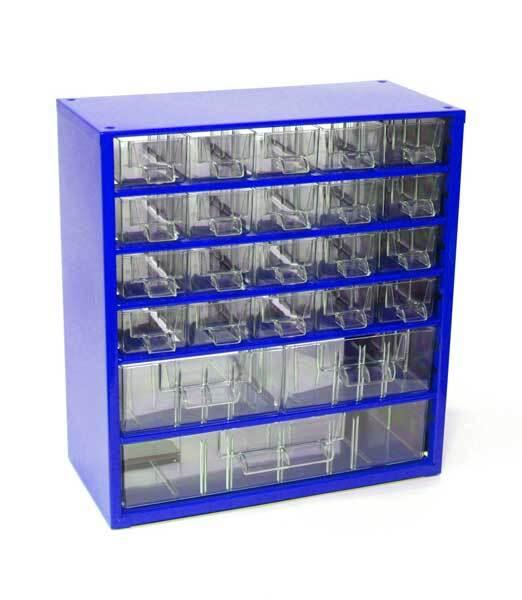Box na nářadí MEDIUM – 20xA, 2xB, 1xC, modrá barva - Mars 6731M