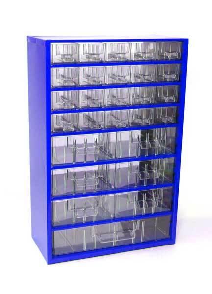 Box na nářadí MEDIUM – 20xA, 6xB, 1xC, modrá barva - Mars 6720M