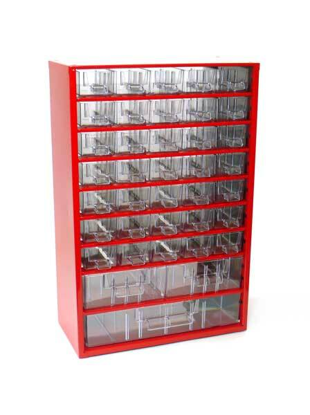 Box na nářadí MEDIUM - 35xA, 2xB, 1xC, červená barva barva - MARS 6741C