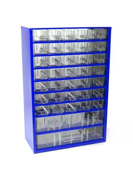 Box na nářadí MEDIUM - 35xA, 2xB, 1xC, modrá barva - MARS 6741M