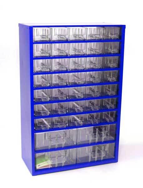 Box na nářadí MEDIUM - 35xA, 4xB, modrá barva - MARS 6743M