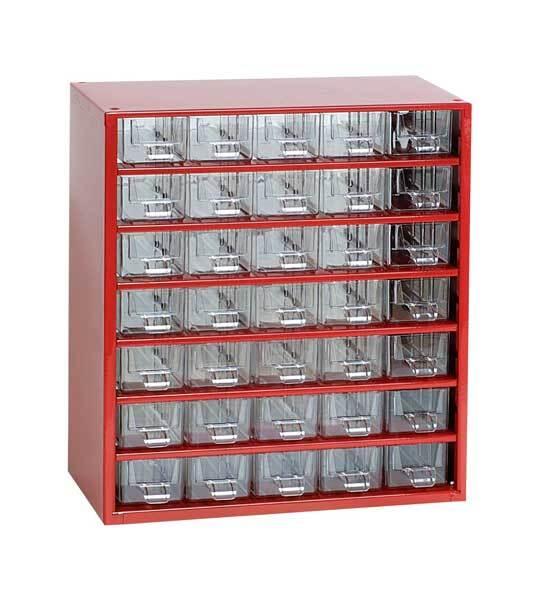 Box na nářadí MEDIUM – 35xA, červená barva - Mars 6730C