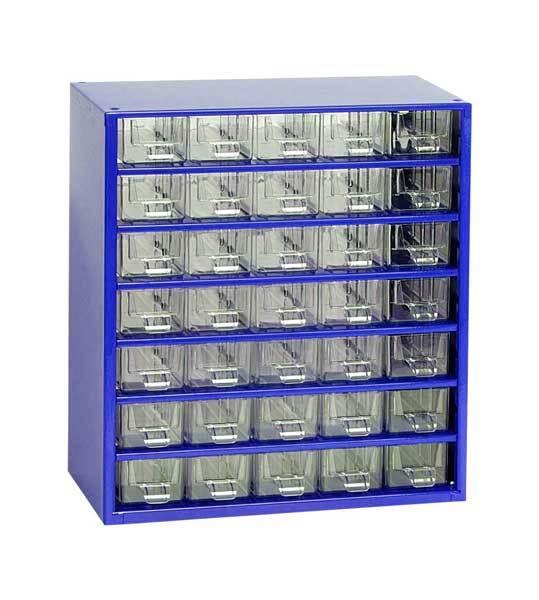 Box na nářadí MEDIUM – 35xA, modrá barva - Mars 6730M