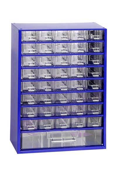 Box na nářadí MEDIUM - 40xA, 1xC, modrá barva - MARS 6703M