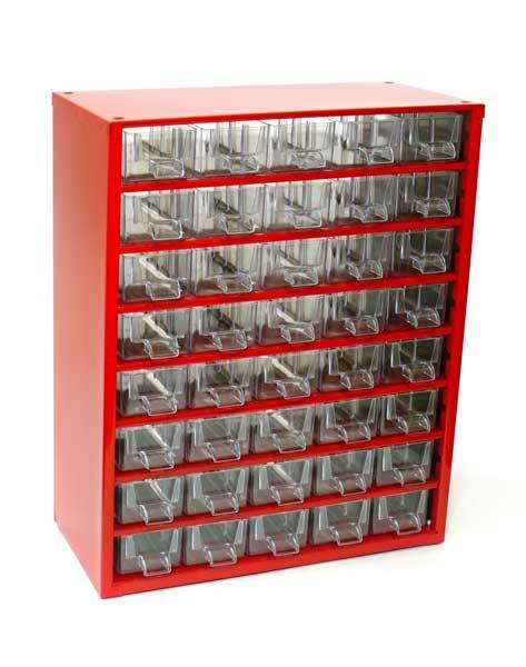 Box na nářadí MEDIUM - 40xA, červená barva - MARS 6710C