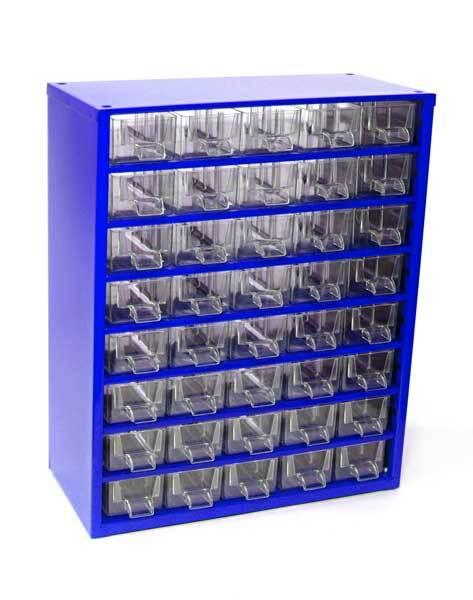 Box na nářadí MEDIUM - 40xA, modrá barva - MARS 6710M