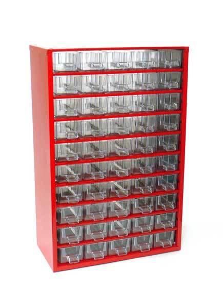 Box na nářadí MEDIUM - 50xA, červená barva - MARS 6732C