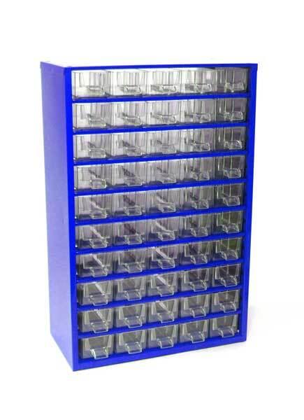 Box na nářadí MEDIUM - 50xA, modrá barva - MARS 6732M