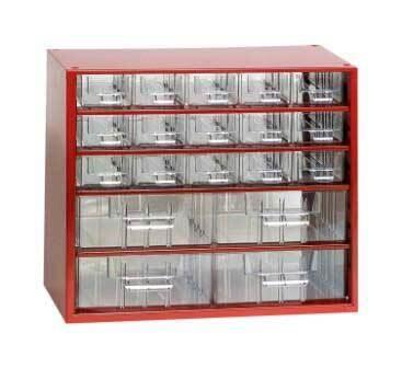 Box na nářadí MINI – 15xA, 4xB, červená barva - Mars 6763C
