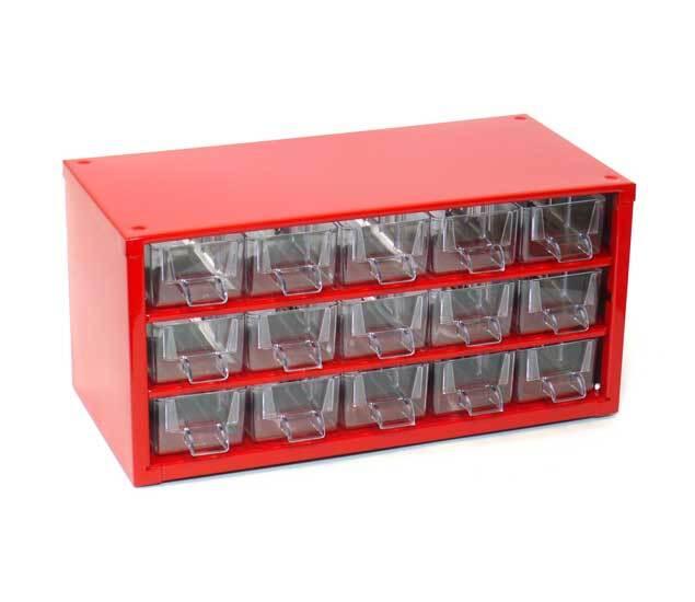Box na nářadí MINI - 15xA, červená barva - MARS 6740C