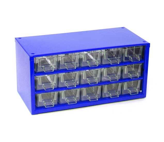 Box na nářadí MINI - 15xA, modrá barva - MARS 6740M