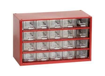 Box na nářadí MINI – 20xA, červená barva - Mars 6736C