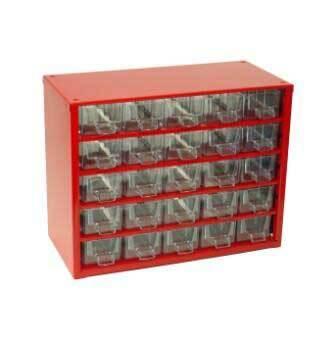 Box na nářadí MINI - 25xA, červená barva - MARS 6742C