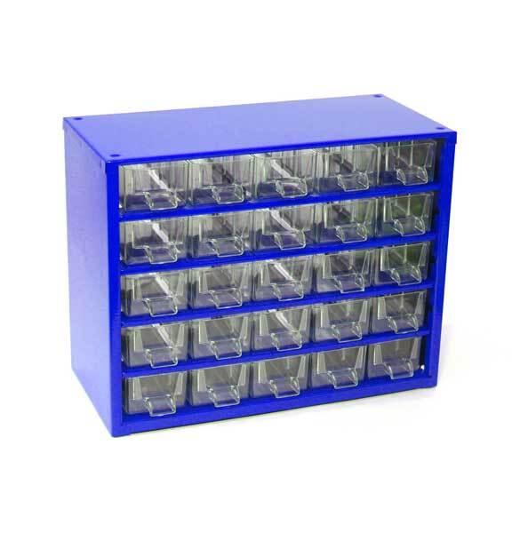 Box na nářadí MINI - 25xA, modrá barva - MARS 6742M
